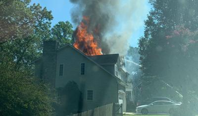 Fire damages Lusby home