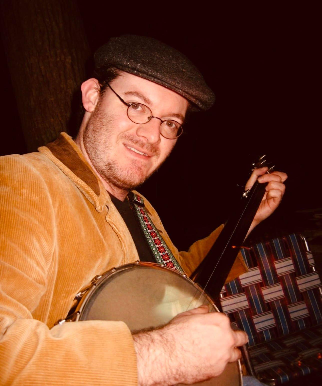 Chad Jones plays the banjo
