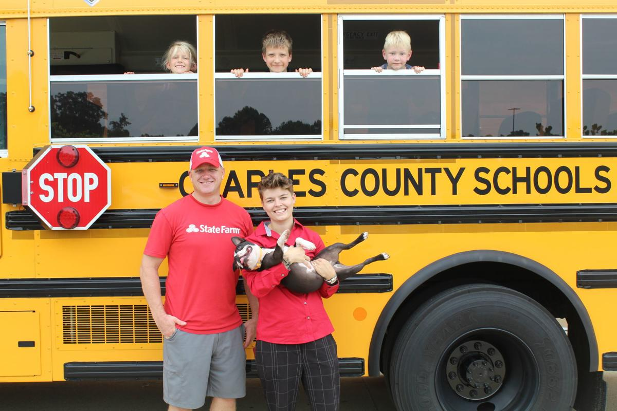 la plata state farm agent holds  u201cstuff the bus u201d school supply drive at walmart