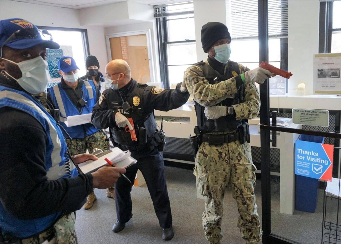 Mock hostage situation during Citadel Shield-Solid Curtain exercise