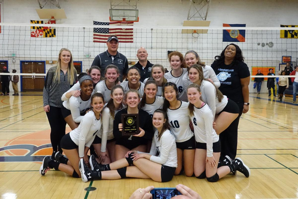 Huntingtown volleyball 3A South Region champions