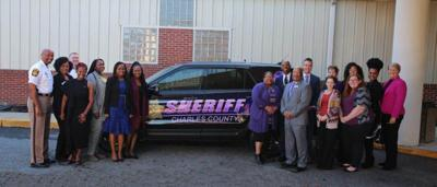 Charles County Sheriff's Office unveils Domestic Violence Awareness vehicle