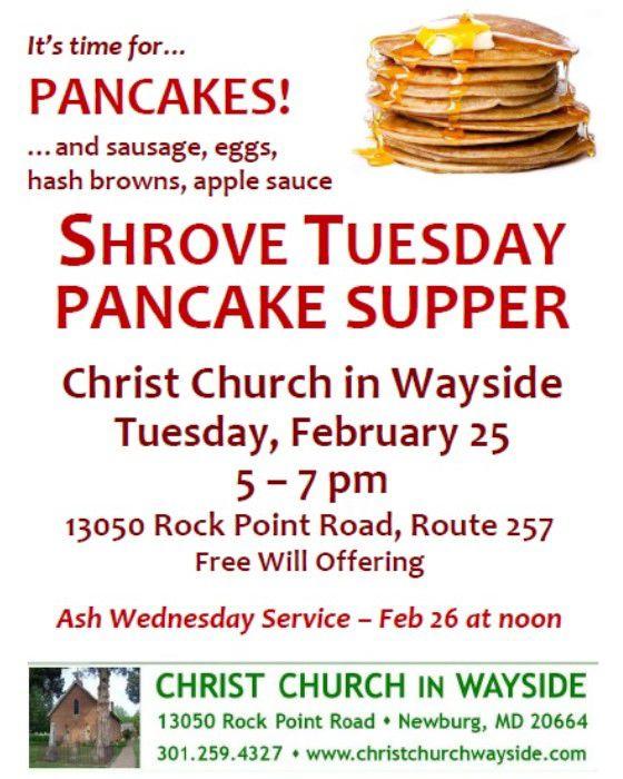Flyer-Pancake Supper 2-25