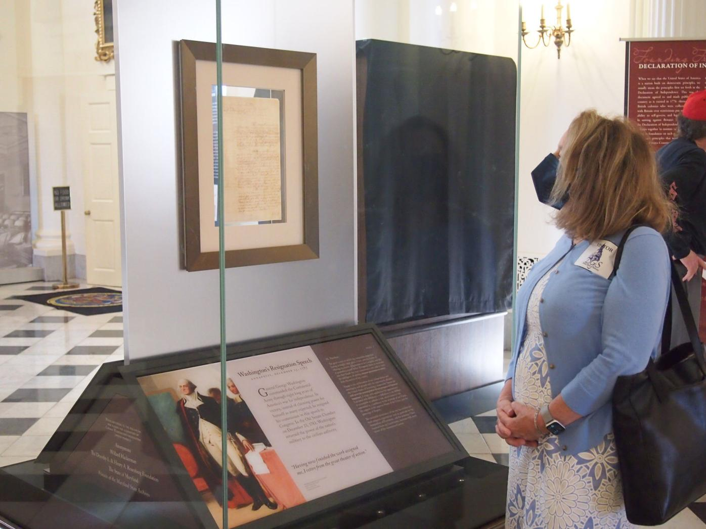Centuries-old reprints, letter on display in Annapolis