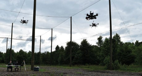 Swarming technology lets drones work as a team