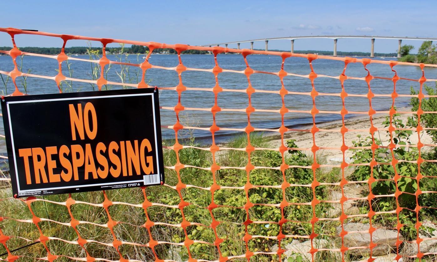 Solomons Beach No Trespassing