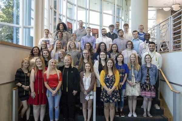 High school students celebrate Work Ethic Seal