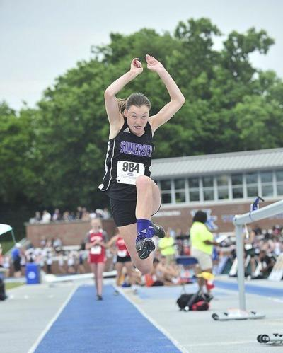 Kendall Burgess wins 3 more state track titles