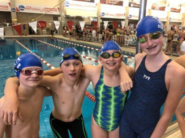 Central Kentucky Aquatics 12 and Under finish 12th in state championships