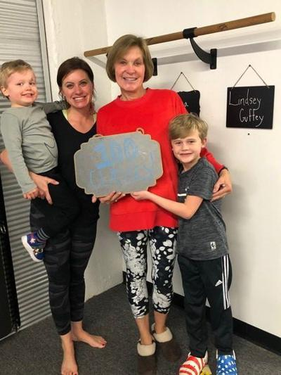 Pam Knight completes 100th<span>Barre Fitmaxx</span><span></span><span>C</span><span>lass</span>