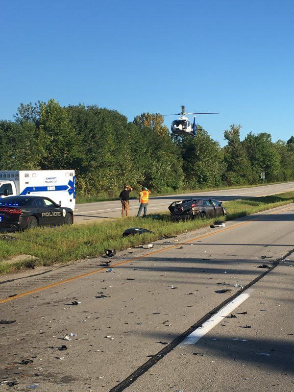 Two injured in three-vehicle wreck at U S  27-Ky  70