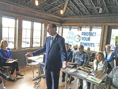 Adkins talks pensions, revenue in Somerset campaign stop