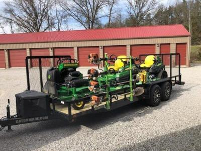 Local lawn service suffers set back with theft of equipment