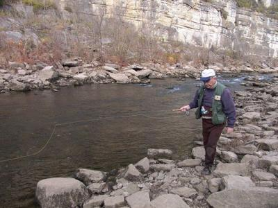 Wading is an excellent and inexpensive way to fish streams