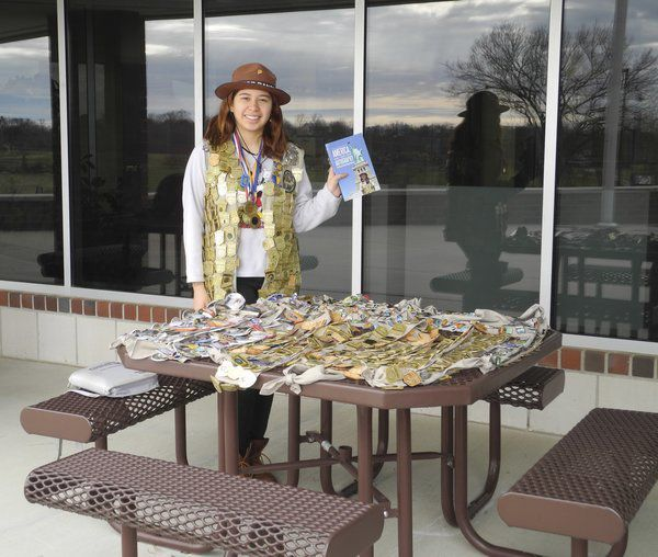 Aida Frey, most decorated Junior Park Ranger, visits Mill Springs