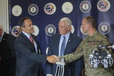 Pence in Manchester