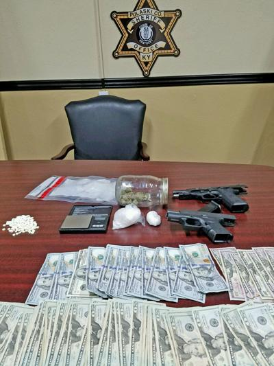 Money Drugs And Guns Were Seized By The Pulaski County Sheriffs Office After An Attempted Drug Bust Resulted In A Vehicle Pursuit Friday Early