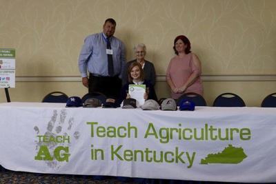 Local student signs to become future agriculture teacher Local student signs to become future agriculture teacher