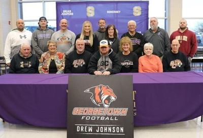 Drew Johnson signs with Georgetown College