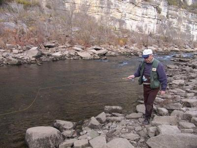 Wading is an excellent way to fish streams
