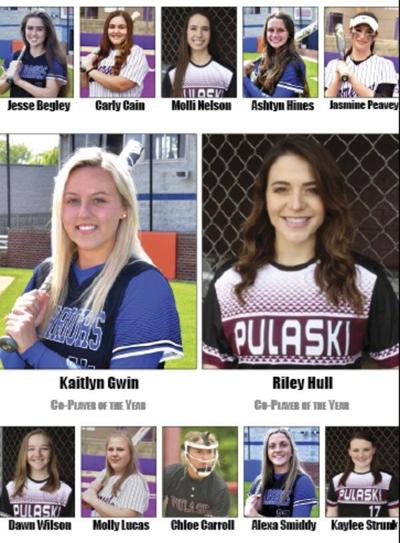 Riley Hull, Kaitlyn Gwin named top softball players