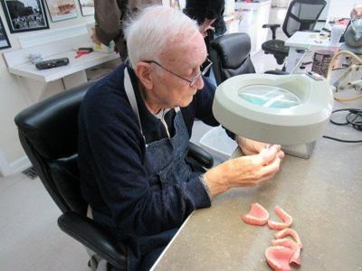Dental technician, 82, still making false teeth after 58 years