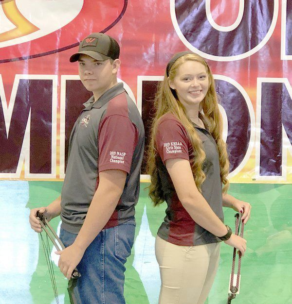 Ruckel and Belcher shoot in NASP Archery Worlds