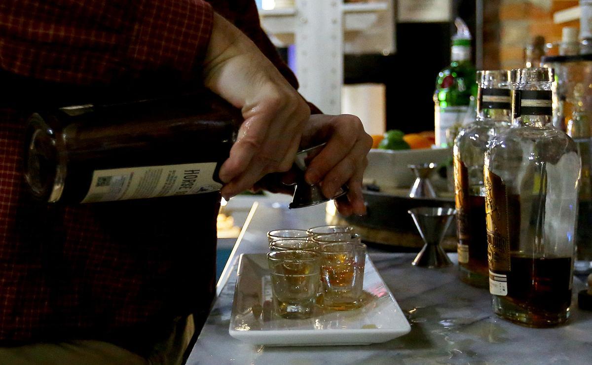 Pouring bourbon