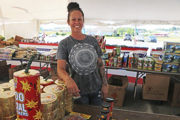 Boom Town: Fireworks stands are a common sight in Somerset around July 4