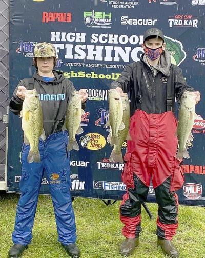 Chanler Brake, Landon Brake place 4th in Bass Fishing Region