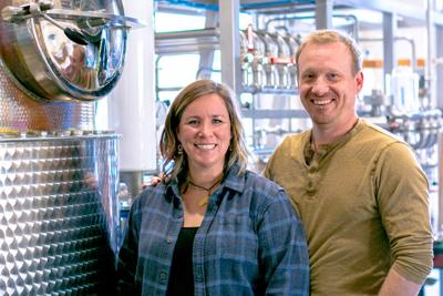 Ashby and Timo Marshall, owners of Spirit Works Distillery