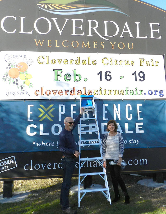 cloverdale citrus fair sign