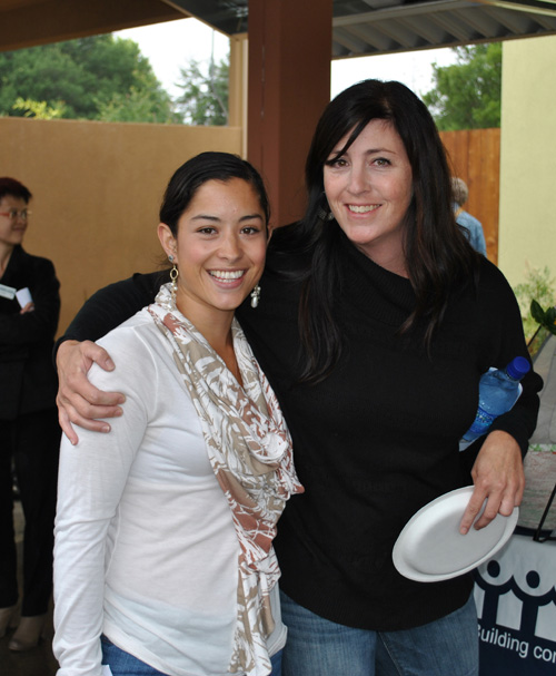 Justine Valentin Left And Samantha Grady Enjoy The Grand Opening Of Hollyhock Self Help Homes On Gravenstein Highway South Were In