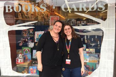 Copperfield's general manager Aubury Doherty and Copperfield's Sebastopol store manager Nikki Coffey