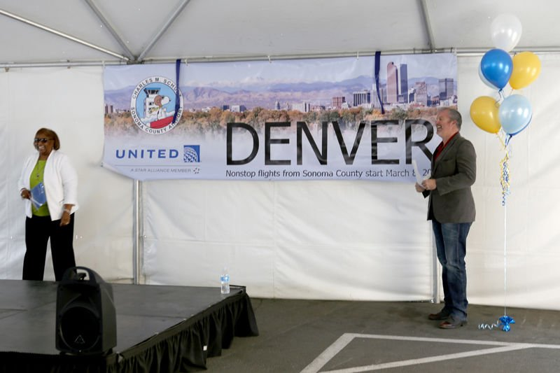 airport service denver reveal of new flight