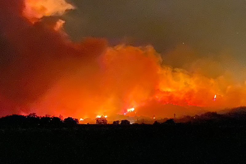 big fire from geyserville