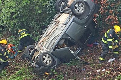 Car chase and dramatic crash sends two to the hospital