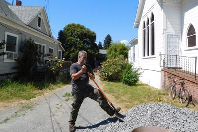 Anthony Golden was at work shoveling gravel on First Street in Guerneville