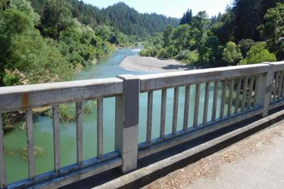 Russian river from bridge