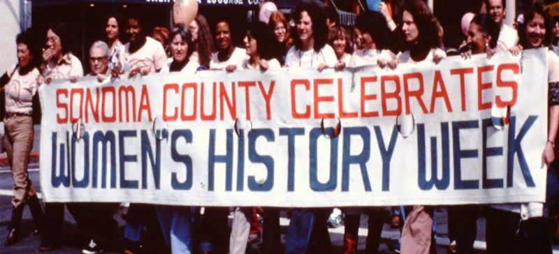 Parade in honor of women's history week in 1979