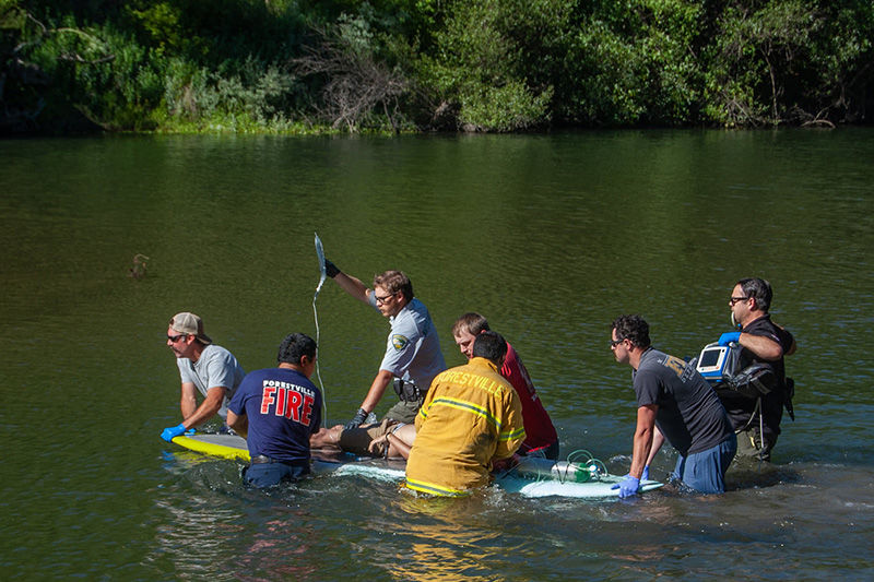 Water rescue by Forestville Fire