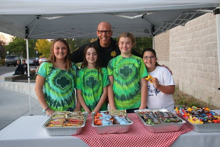 Girl Scouts at Sheriff's Office