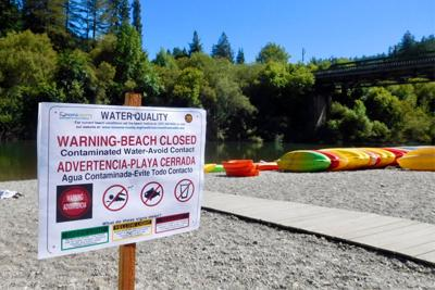 beach closed for bacteria