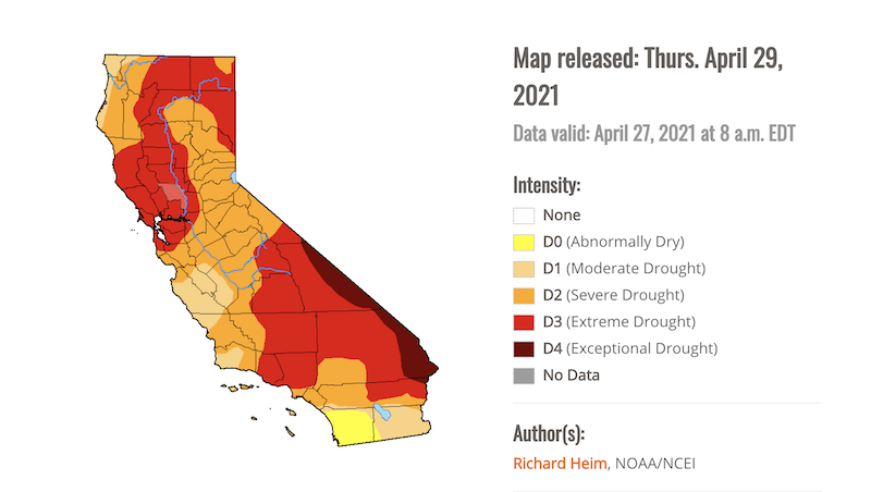 Drought monitor April 2021