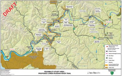 Feasibility Study Area for Proposed Lower Russian River Trail
