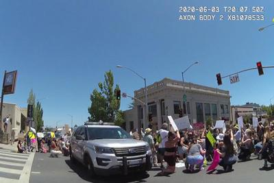 body cam footage protest