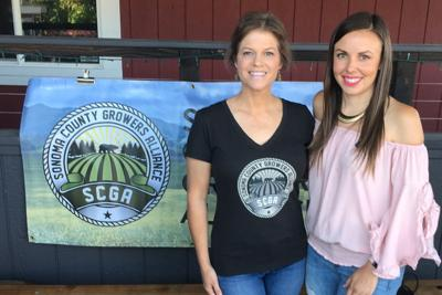 Jennifer Michaels and Alexa Wall at Sonoma County Growers Alliance