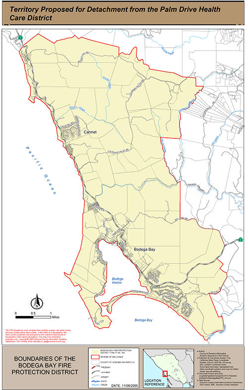 Sonoma Local Agency Formation Commission - Palm Drive Healthcare District Map