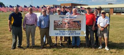 Flags for Heroes placed for Memorial Day