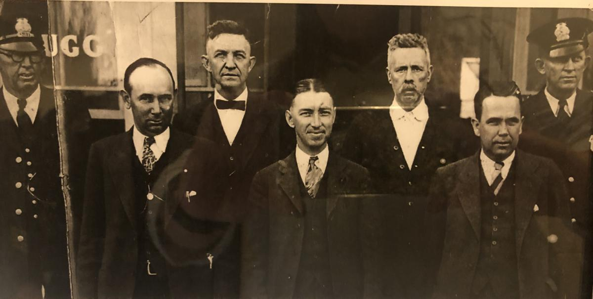 Members of the South Hill Police Department circa 1931 after the town purchased uniforms to set them apart from civilians.